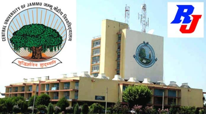 Faculty Position in Central University of Jammu, Jammu (J&K), India