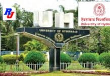 Faculty Positions in UoH, University of Hyderabad, India
