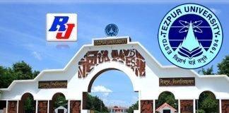 Teaching positions in Tezpur University (Central University), Assam, India