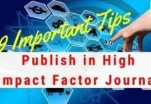 9 Important Tips to Publish Your Work in Journal With High Impact Factor