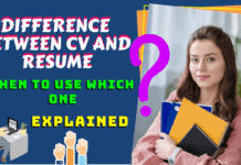 Difference between cv and resume When to use which one Explained