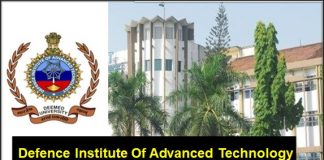 Faculty Position in Defence Institute of Advanced Technology, Pune, India