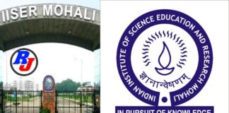 Research Associate At IISER Mohali -Department of Physical Sciences- Apply by 27 Oct. 2020